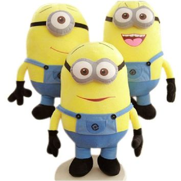 "Retail baby toy doll 1pcs/set Movie Plush Toy 7 inch "" 18cm Minion Jorge Stewart Dave with tags 3D eyes"