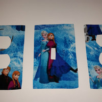 Light Switch Plate/Outlet Covers w/ Frozen Elsa Anna Olaf