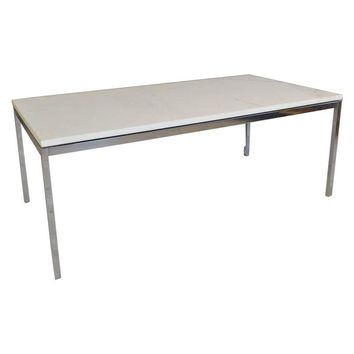 Pre-owned Vintage Knoll  Marble and Chrome Coffee Table