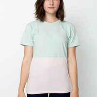 American Apparel - Unisex Power Wash Colorblock T