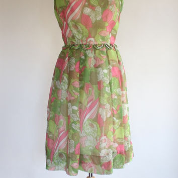 50s Chiffon Party Dress