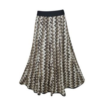 Mogul Womens Maxi Long Skirt Printed Flared Rayon Bohemian Style Tiered Elastic Waist A-Line Gypsy Skirts - Walmart.com
