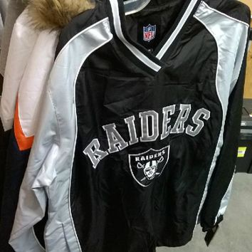 Oakland Raiders Official NFL Team Apparel Sideline Windbreaker