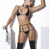 Obey Mama Wet Look | Lingerie Set