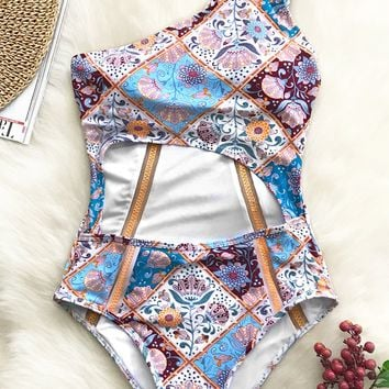 Cupshe Wishful Wanderings Print  One-piece Swimsuit