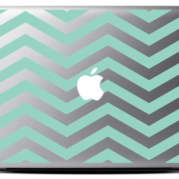 Chevron Stripe Macbook Decal / Macbook Sticker / Laptop Decal