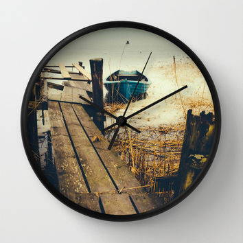 Crooked fisherman Wall Clock by HappyMelvin