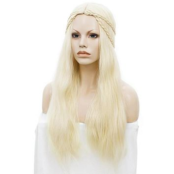 Blonde High-Temperature Fiber Cosplay Wigs Costume Party Hair Halloween Masquerade Show