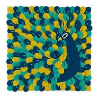 Fine Feathers Wall Art in Canvas Wall Art | The Land of Nod