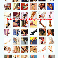 womans body parts legs feet high heels clip art digital download collage sheet 1 inch squares foot fetish images pendant jewelry printables