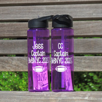 personalized water bottles, sports water bottle, graduation gift, customized bottle, sports bottle with straw, plastic bottle, coach gift