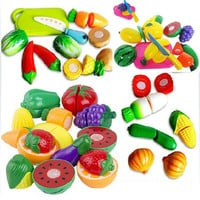 Kitchen Food Play toy Cutting Fruit Vegetable Knife for Children kids Great Gift (Color: Multicolor) = 1946579908