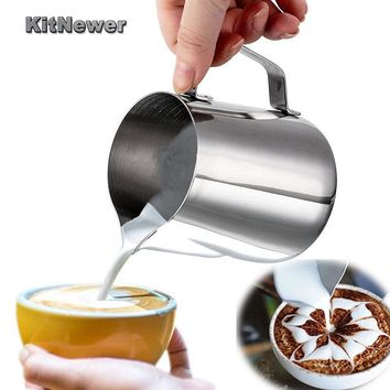 KITNEWER Food Grade Stainless Steel Milk frothing jug Espresso Coffee Pitcher Barista Craft Coffee Latte Pitcher