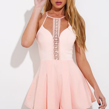 Play On Words Playsuit Peach