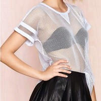 BF Style Transparent White T-shirt