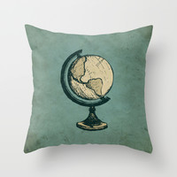 Travel On Throw Pillow by Zeke Tucker