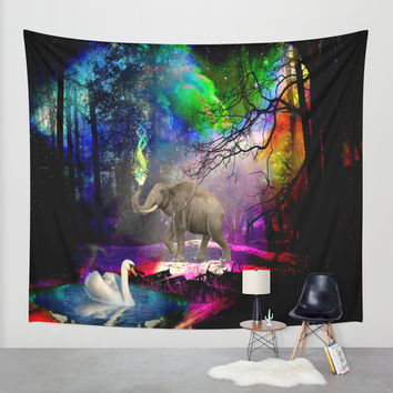 Fantasy forest Wall Tapestry by Haroulita