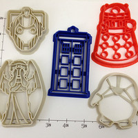 Doctor Who 5 Cutter Set by WarpZone on Etsy