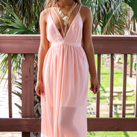 Walking On Seashells Blush Maxi