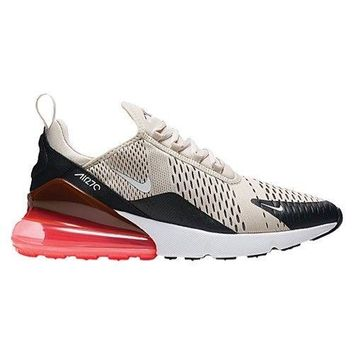 Nike Air Max 270 Light Bone Hot Punch Black AH8050-003 Sizes 8-13