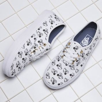VANS X Disney Mickey Mouse Canvas Old Skool Flats Sneakers Sport Shoes