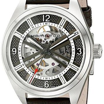 Hamilton Men's H72515585 Khaki Field Analog Display Automatic Self Wind Brown Watch