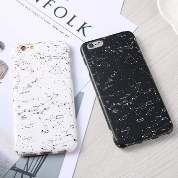 Luxury Starry Sky Constellation Pattern Phone Cases For iphone 7 6 6S Plus Protector Shell Ultra Thin Soft Silicone Cover Fundas