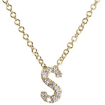 Bony Levy Pavé Diamond Initial Pendant Necklace (Nordstrom Exclusive) | Nordstrom