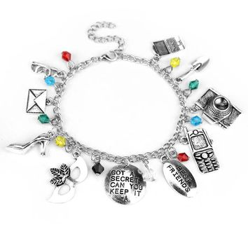 "Pretty Little Liars Bracelet letter""GOT A SECRET CAN YOU KEEP IT&Best friends"" Mask Crystal Beads Bracelet"
