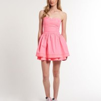 Womens - 50's Colour Dress in Hot Pink   Superdry