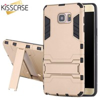 KISSCASE Hybrid 2 in 1 Case for Galaxy Note 5 Note 4 Armor Hard PC TPU Cover for Samsung Galaxy Note 5 N920 Note 4 N9100 Stand