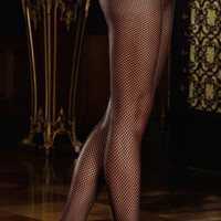Fishnet Pantyhose with Back Seam