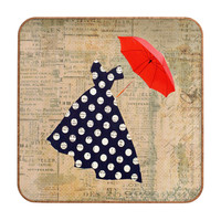 Irena Orlov Red Umbrella Wall Art