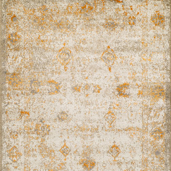 Dalyn Antiquity Ivory / Tangerine Aq1 Area Rug
