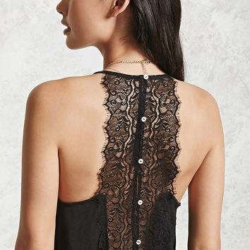 Lace-Panel Cropped Cami