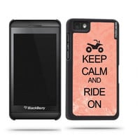 Keep Calm And Ride On Coral Floral Blackberry Z10 Case - For Blackberry Z10
