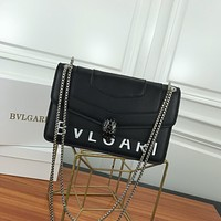 BVLGARI WOMEN'S LEATHER Serpenti Forever INCLINED SHOULDER BAG