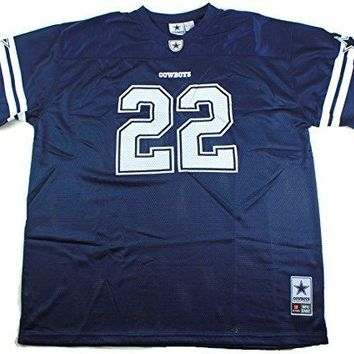 Emmitt Smith Dallas Cowboys #22 Men's Big & Tall Mesh Player Jersey Navy
