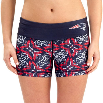New England Patriots Women's Thematic Print Shorts – Navy Blue