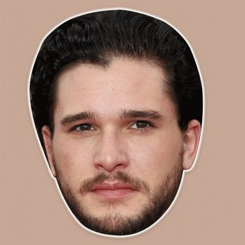 Bored Kit Harington Mask - Perfect for Halloween, Costume Party Mask, Masquerades, Parties, Festivals, Concerts - Jumbo Size Waterproof Laminated Mask