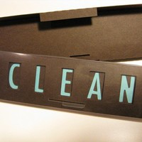 Quick Flick, Clean / Dirty Dishwasher Sign (coffee bean and baby blue)