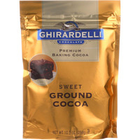 Ghirardelli Baking Cocoa - Premium - Sweet Ground - 10.5 Oz - Case Of 6
