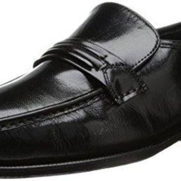 Florsheim Men's Como Flat Strap Loafer,Black,11.5 EEE