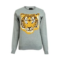 ZLYC Wild Tiger Face Jumper for Girls