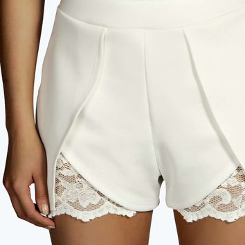 Ruth Lace Wrap Over Shorts