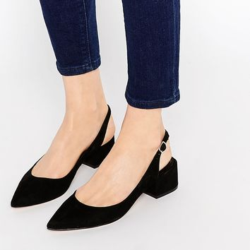 ALDO Shirley's Black Mid Heeled Ankle Tie Shoes