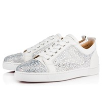 Best Online Sale Christian Louboutin Cl Louis Junior Strass Flat Version Latte Strass Shoes 3170203w080