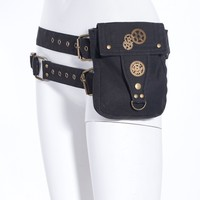 Black Steampunk Waist Pack