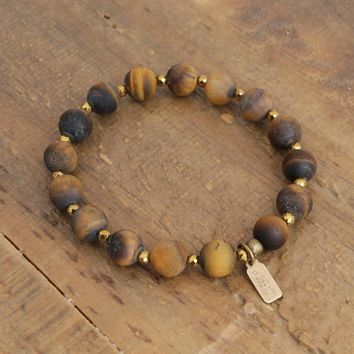 Abundance - Matte Genuine Tiger's Eye Bracelet