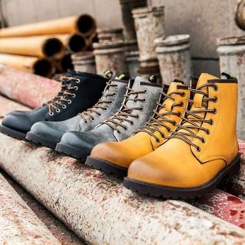ac VLXC On Sale Hot Deal Winter Dr. Martens Casual Flat Shoes Anti-skid Boots [9252878860]